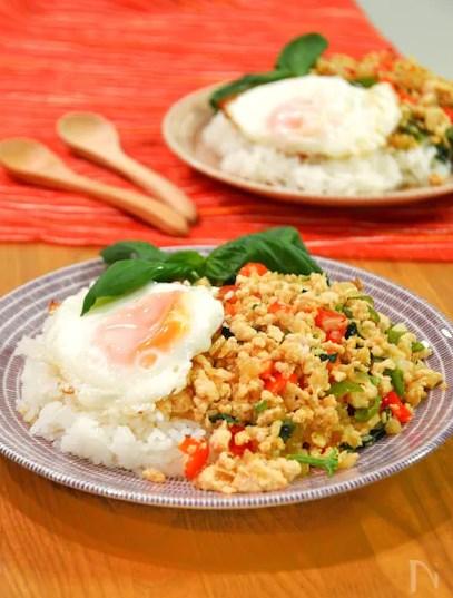 ガパオライス。簡単&本格タイ料理のワンプレートランチ。