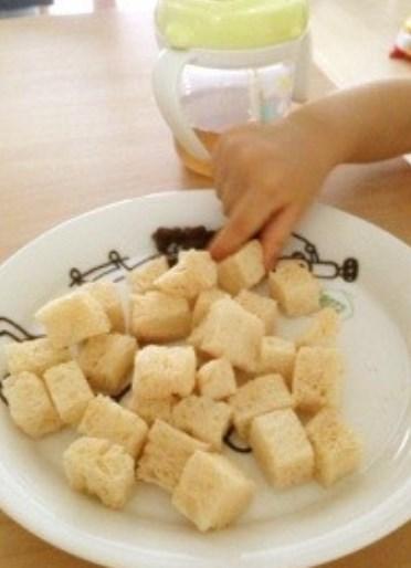 離乳食☆手づかみきなこトースト
