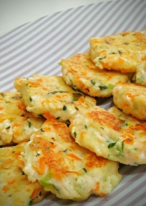 離乳食後期~手づかみ食べに!豆腐ハンバーグ レシピ・作り方