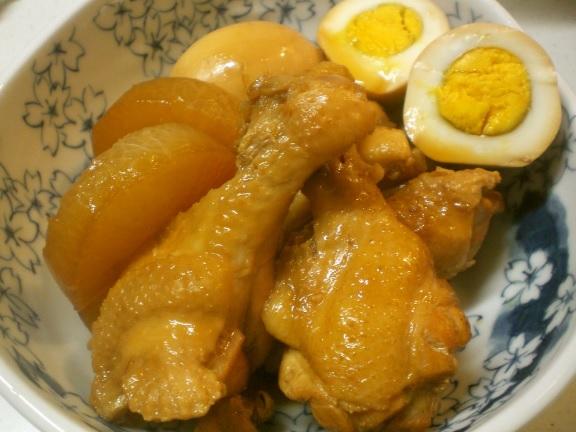 簡単✿鶏手羽元と大根&卵の煮物