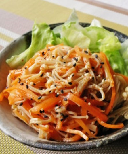 人参とえのきの中華風サラダ