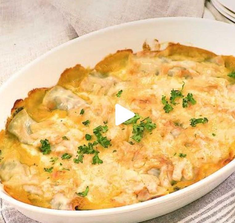 【デリッシュキッチン】簡単!パーティー料理♪ 餃子の皮でほうれん草カネロニ風