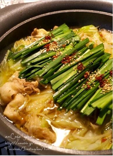 豚バラde♡超簡単に絶品本格もつ鍋!