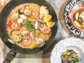 【スペイン料理】フライパンで簡単パエリア