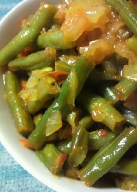 トルコ料理*インゲンのオリーブ油煮込み。