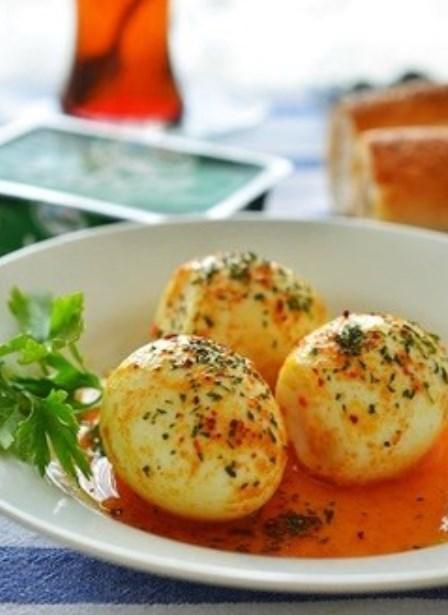 トルコ料理☆バターソースの茹でたまご