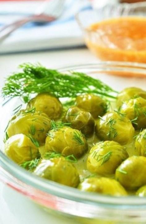 トルコ料理☆芽キャベツのレモンオイル煮