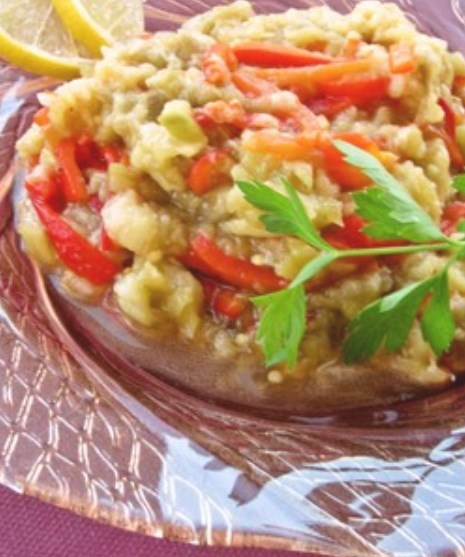 トルコ料理☆焼なすと焼パプリカのサラダ