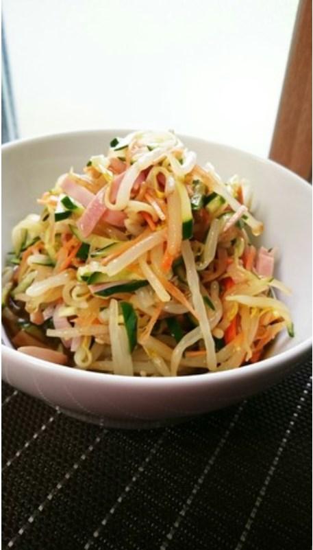 もやしときゅうりの中華サラダ