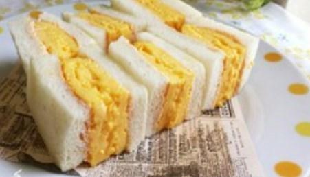 朝から幸せ♡厚焼き玉子のサンドイッチ