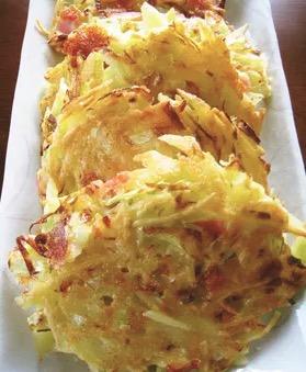ジャガイモとキャベツのチーズ焼き