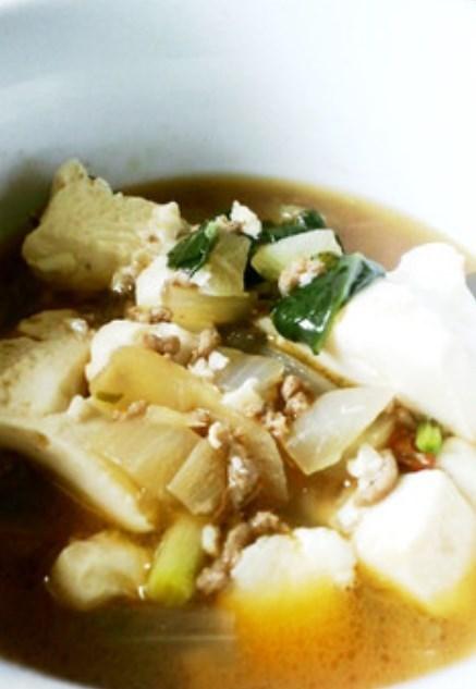 【風邪に速効】生姜豆腐スープ