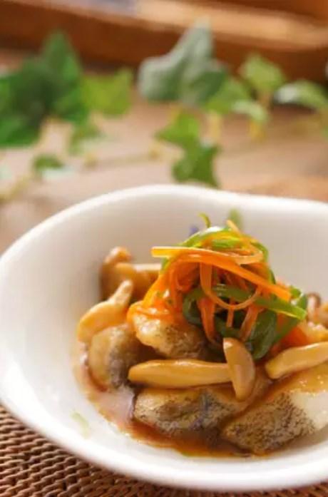 鱈の和風彩り野菜あんかけ