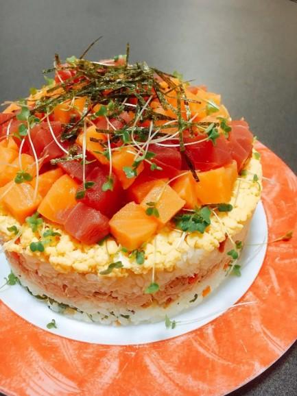 簡単✤ちらし寿司ケーキ 母の日❦誕生日