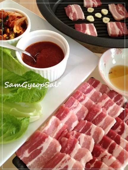 おうちで韓国の豚バラ焼肉☯サムギョプサル
