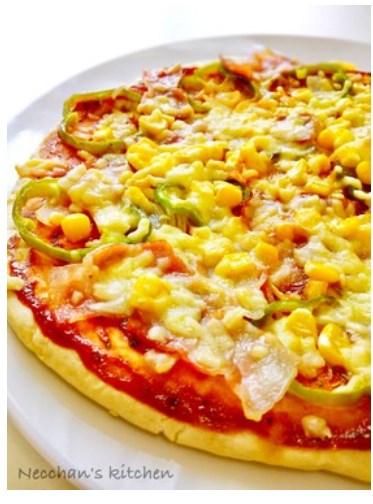 ランチに☆発酵なし簡単♪フライパンピザ