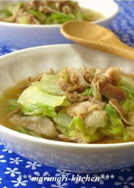 白菜と豚肉のとろ~りうま煮