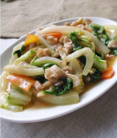 白菜と豚こま肉のうま煮