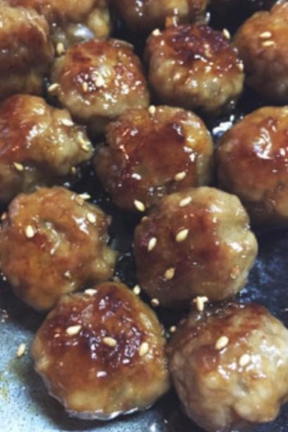 お弁当に!豚ひき肉の簡単甘酢肉だんご!