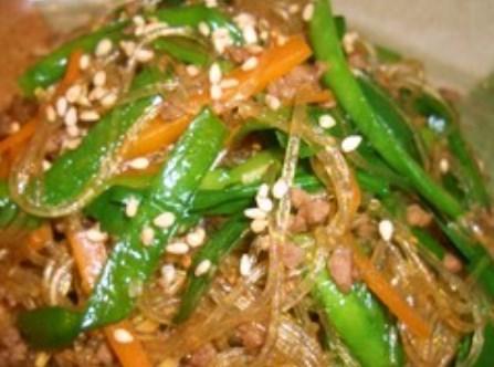 ✿合挽肉で簡単チャプチェ(^^)