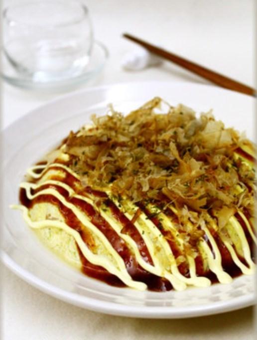 レンジで簡単♪粉なし!豆腐入りお好み焼き