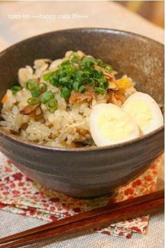 さんまの蒲焼き缶詰de簡単炊き込みご飯★