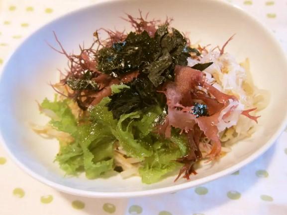 ✿簡単✿もやしと海藻のヘルシーサラダ✿