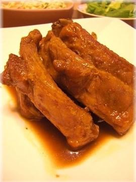 激ウマ♪豚スペアリブのハニーマスタード煮