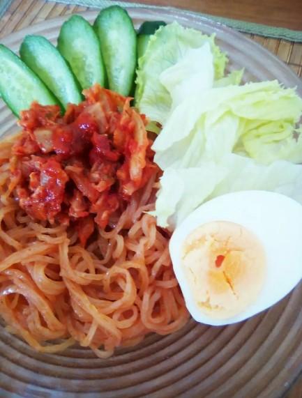 激辛!!ホントに美味しい、汁なし韓国冷麺