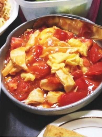 ♪台湾料理の味♪トマト玉子炒め