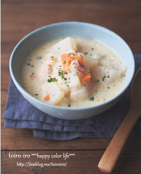 トロトロかぶの豆乳スープ