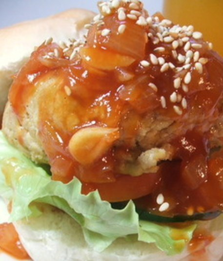 ベジタリアンバーガー■中華・酢豚風味!■