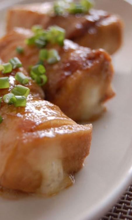 高野豆腐のチーズin照り焼き