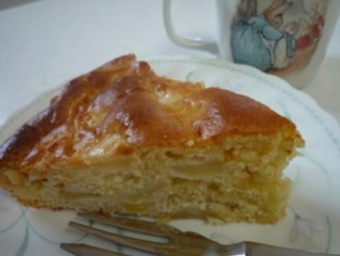 ホットケーキミックスで簡単りんごケーキ♡