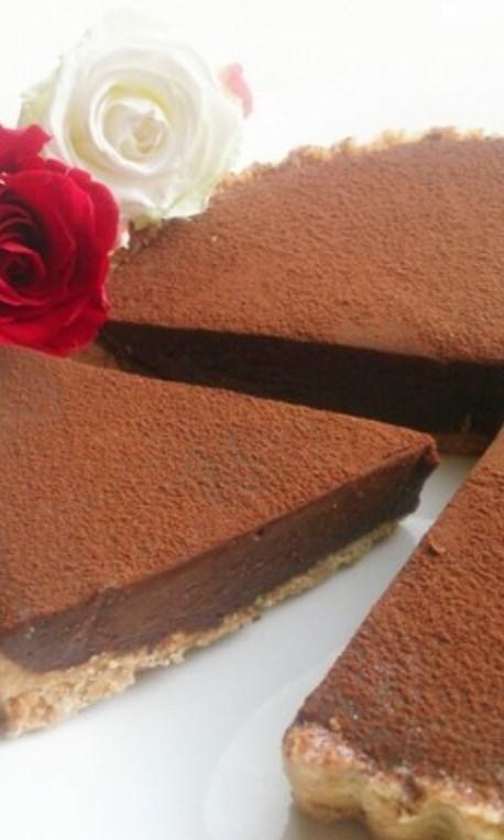 バレンタイン♪生チョコレアチーズタルト