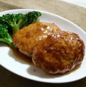 鶏ひき&豚ひきの絶品テリヤキハンバーグ
