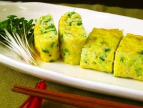 ブロッコリースプラウトの卵焼き