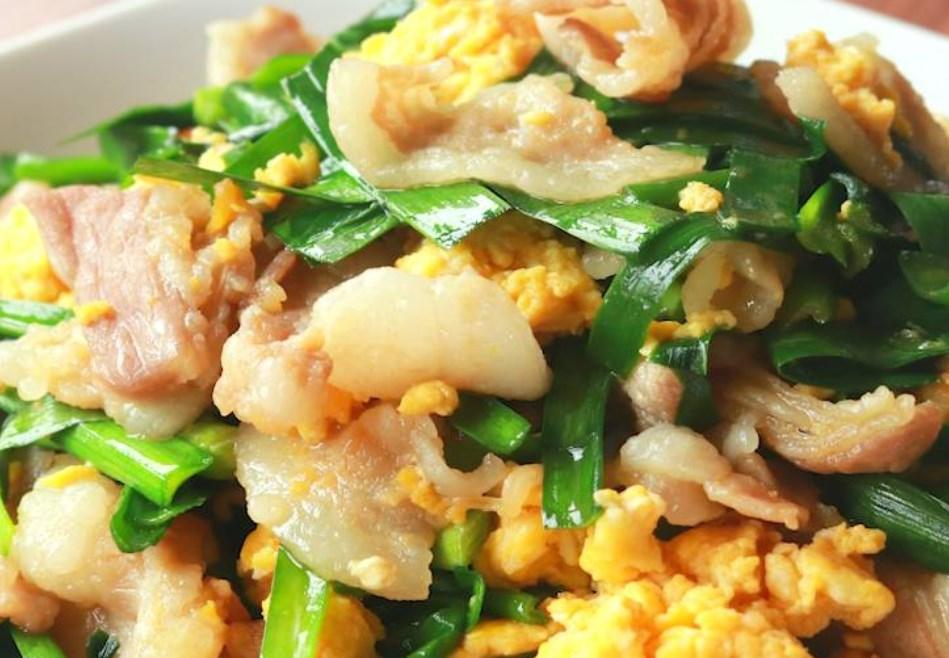 豚バラ肉のスタミナニラ玉炒め レシピ・作り方