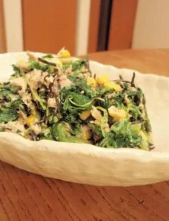 ほうれん草とひじきの鉄分強化サラダ