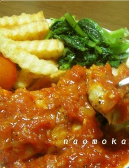 チキンソテー♡トマトガーリックソース
