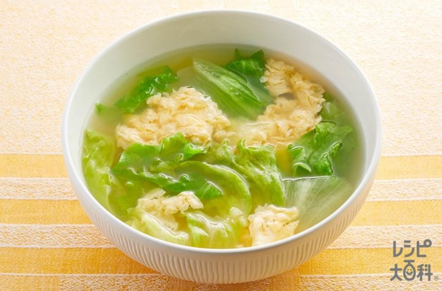 あと一品に!丸鶏ふわ玉レタススープ