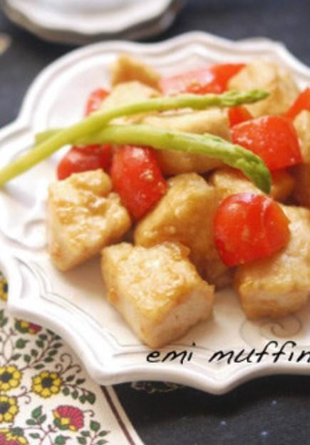 鶏むね肉とパプリカの味噌照り焼き