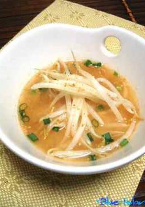 ぴり辛うま*もやしの味噌スープ*