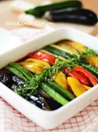 夏野菜の揚げ浸し♪茄子/ズッキーニ