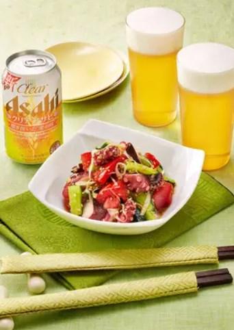 夏野菜とタコの中華マリネ
