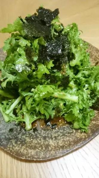 簡単美味しい!わさび菜のサラダ