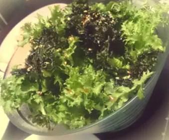 わさび菜のサラダ~韓国風~