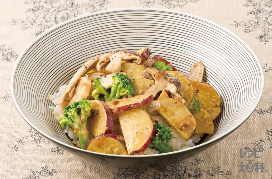 秋野菜の焼きサラダDON