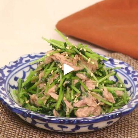 さっぱり簡単副菜!豆苗とツナのめんつゆ和え