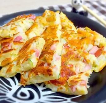 超簡単♡長芋とベーコンのチーズチヂミ